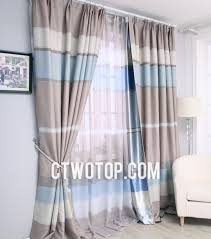 Country Curtains For Living Room Living Room First Choice Striped Blue Style Energy Saving Country