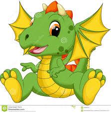 cute baby dragon cartoon stock illustration image 43696870