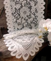 ivory lace table runner ivory floral lace table runner
