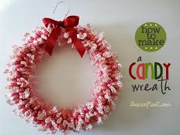 how to make a candy wreath craft for christmas wire hangers big