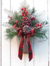 Primitive Holiday Decor Christmas Wreath Holiday Wreath Christmas Door Wreath Christmas