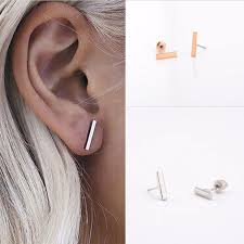 bar earrings fashion simple t bar earrings women ear stud earrings