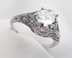 deco engagement ring platinum deco engagement ring 1 67 carat engagement ring