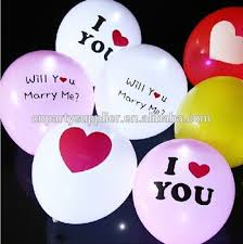 Lighted Balloons I Love You Led Light Up Balloons For Party Decorations Buy