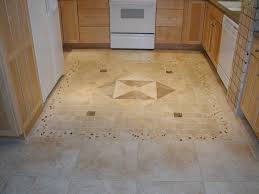 kitchen floor tile ideas with oak cabinets blue design accent