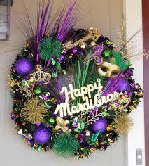 mardi gras wreaths mardi gras wreath festive new orleans door by thejourneyaccents