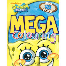 spongebob squarepants mega colouring book by nickelodeon