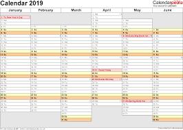 excel calendar 2019 uk 16 printable templates xlsx free yearly