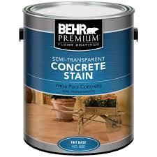 behr premium 1 gal semi transparent concrete stain 85001 the