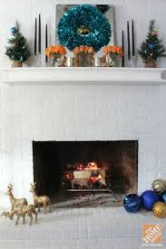 Christmas Decoration Ideas Fireplace Christmas Tree Decorating Ideas Turquoise Blue U0026 Bronze