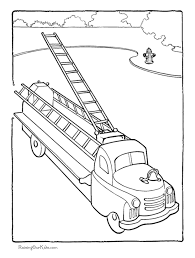 firetruck kid coloring 015