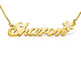 plated name necklace 18k gold plated style name necklace order any name flower