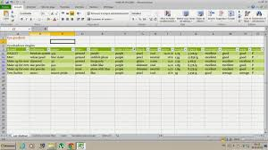 Sample Of Excel Spreadsheet Lipstick In The Attic Excel Spreadsheet To Organize Your Make Up