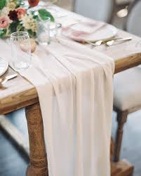 fabric for table runners wedding sheer table runner flowers pinterest romantic wedding and wedding