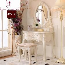 Antique Makeup Vanity Table Luxury French Style Pricess Dresser Makeup Dressing Table With