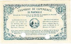 chambre de commerce de marseille 1 franc 12 août 1914 chambre de commerce de marseille specimen spl