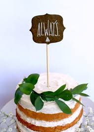lord of the rings cake topper wooden always harry potter inspired deathly hallows wedding cake