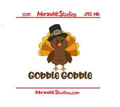 thanksgiving turkey gobble gobble marzwhit studios