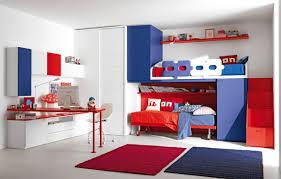 blue gray bedroom jet black floor dusty white brick wall square