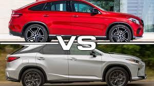 2016 lexus rx 350 vs 2016 mercedes benz gle 450 amg 4matic coupe vs 2016 lexus rx 450h