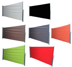 Outdoor Awnings And Blinds Foxhunter Garden Patio Sunshade Blind Retractable Side Awning