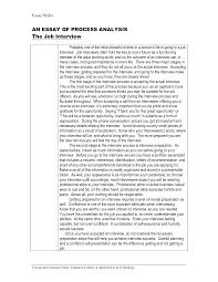 Sample Essay Question For Job Interview Interview Essay Academic Essay