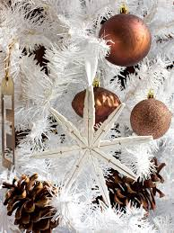christmas christmas tree white ornaments vintage interior new