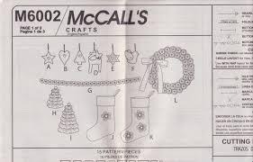drawing layout en espanol free us ship mccall s 6002 craft sewing pattern christmas tree