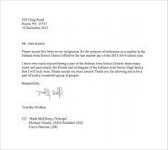 resignation letter teacher job resignation letter format sample