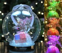 amazon com led christmas ornament eagle and american flag led
