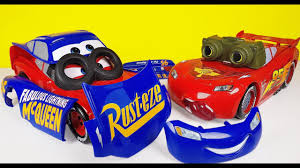 disney cars 3 toys change u0026 race lightning mcqueen new and old