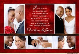 wedding thank you card collage photos chocolate