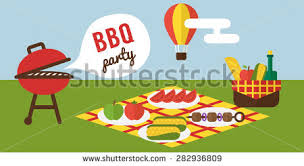 bbq party barbecue grill cooking picnic stock vector 282936809