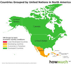 Mexico Country Map by Countries Grouped By United Nations Vivid Maps