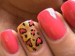 cool nail designs cute heart leopard l easy nail designs youtube