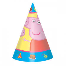 party hats peppa pig party hats 8ct wally s party factory