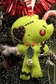 felt embroidery zombie gingerdead christmas ornament set too