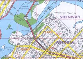 New York Boroughs Map by Astoria Ny Neighborhood Street Maps Queens County Ny