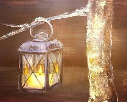 youtube halloween lights glowing lantern candle acrylic painting tutorial tonight on