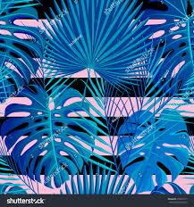 Exotic Colors by Seamless Pattern Neon Colored Tropical Exotic Stock Vector