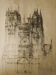 sketch of top ten modern cathedral by monikadomaszewska tattoo