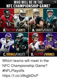 Saints Falcons Memes - who will be in the nfc chionship game nfl a