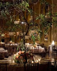 wedding trees indoor garden wedding trees with mini chandeliers gorgeous