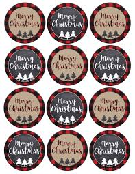 merry tags printable paper trail design