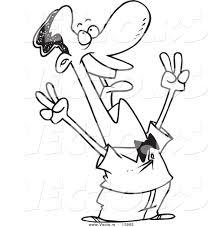vector of a cartoon victorious black businessman shouting