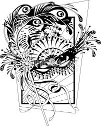 black and white mardi gras masks mardi gras mask vector thinkstock