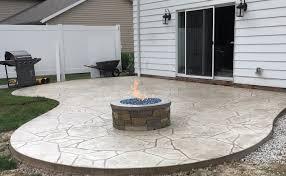 Custom Gas Fire Pits - arizona flagstone stamped patio w custom made natural gas fire
