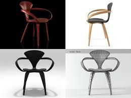cherner armchair 3d cgtrader