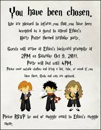 birthday invites captivating harry potter birthday party