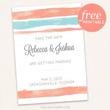 free save the date cards free printable watercolor wedding save the date by the lovely dept
